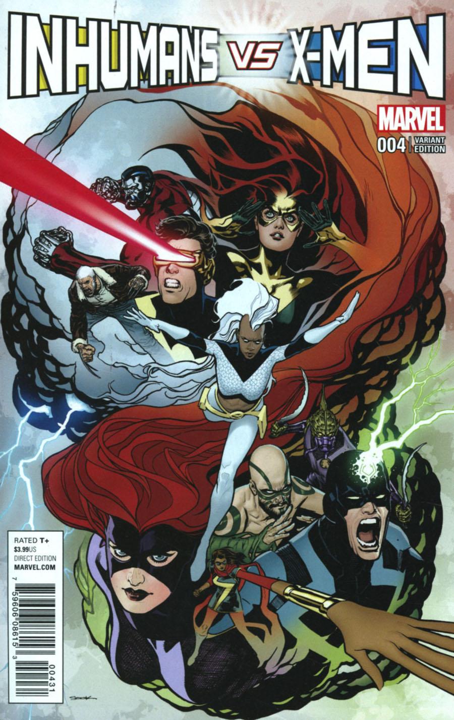 Inhumans vs X-Men #4 Cover F Incentive Ryan Sook Variant Cover