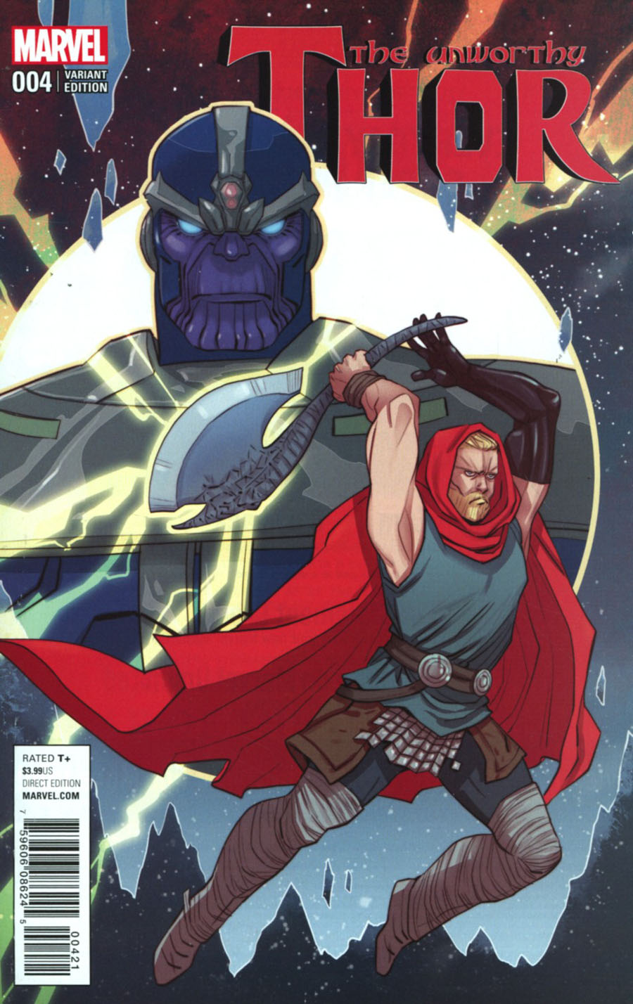 Unworthy Thor #4 Cover B Incentive Marguerite Sauvage Variant Cover