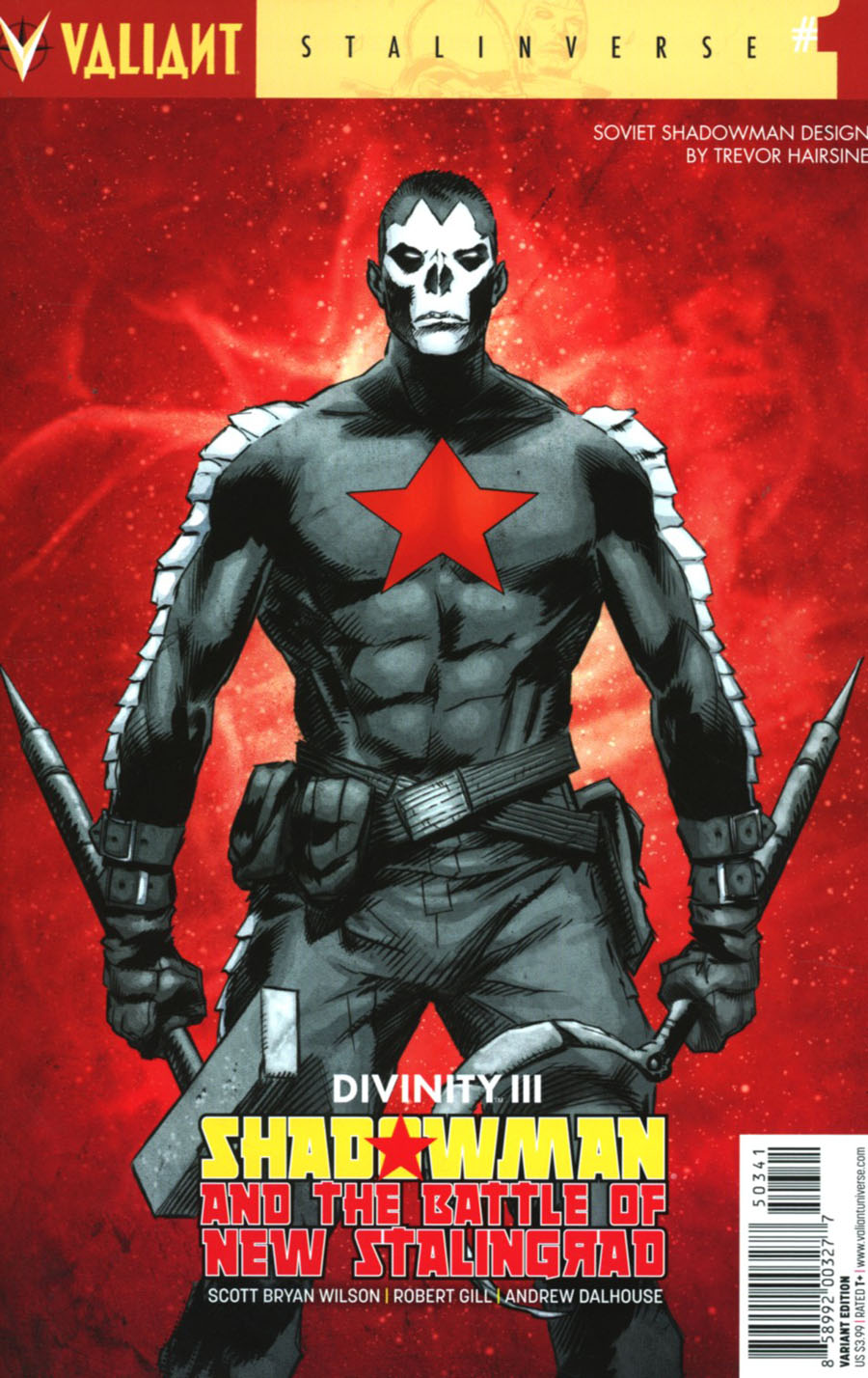 Divinity III Shadowman And The Battle Of New Stalingrad #1 Cover D Incentive Trevor Hairsine Character Design Variant Cover