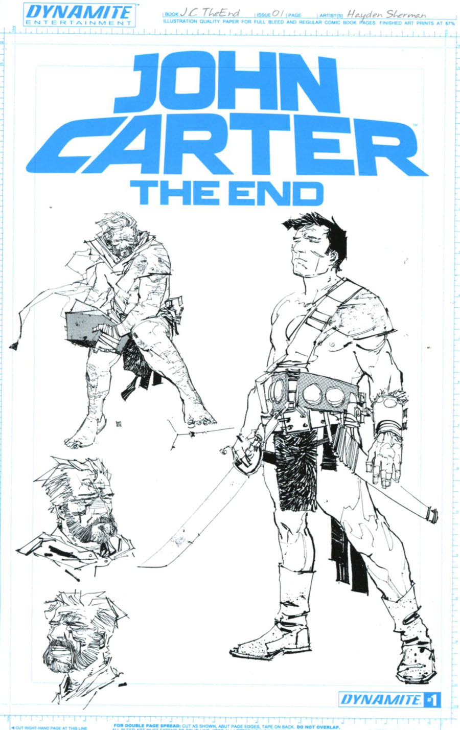 John Carter The End #1 Cover O Variant Hayden Sherman Artboard Cover