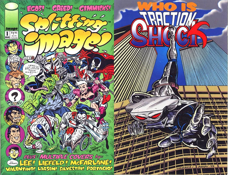 Splitting Image #1 Cover C Traction Shock Back Cover