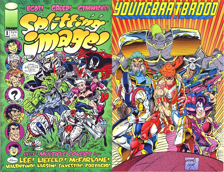 Splitting Image #1 Cover D Youngbratbrood Back Cover