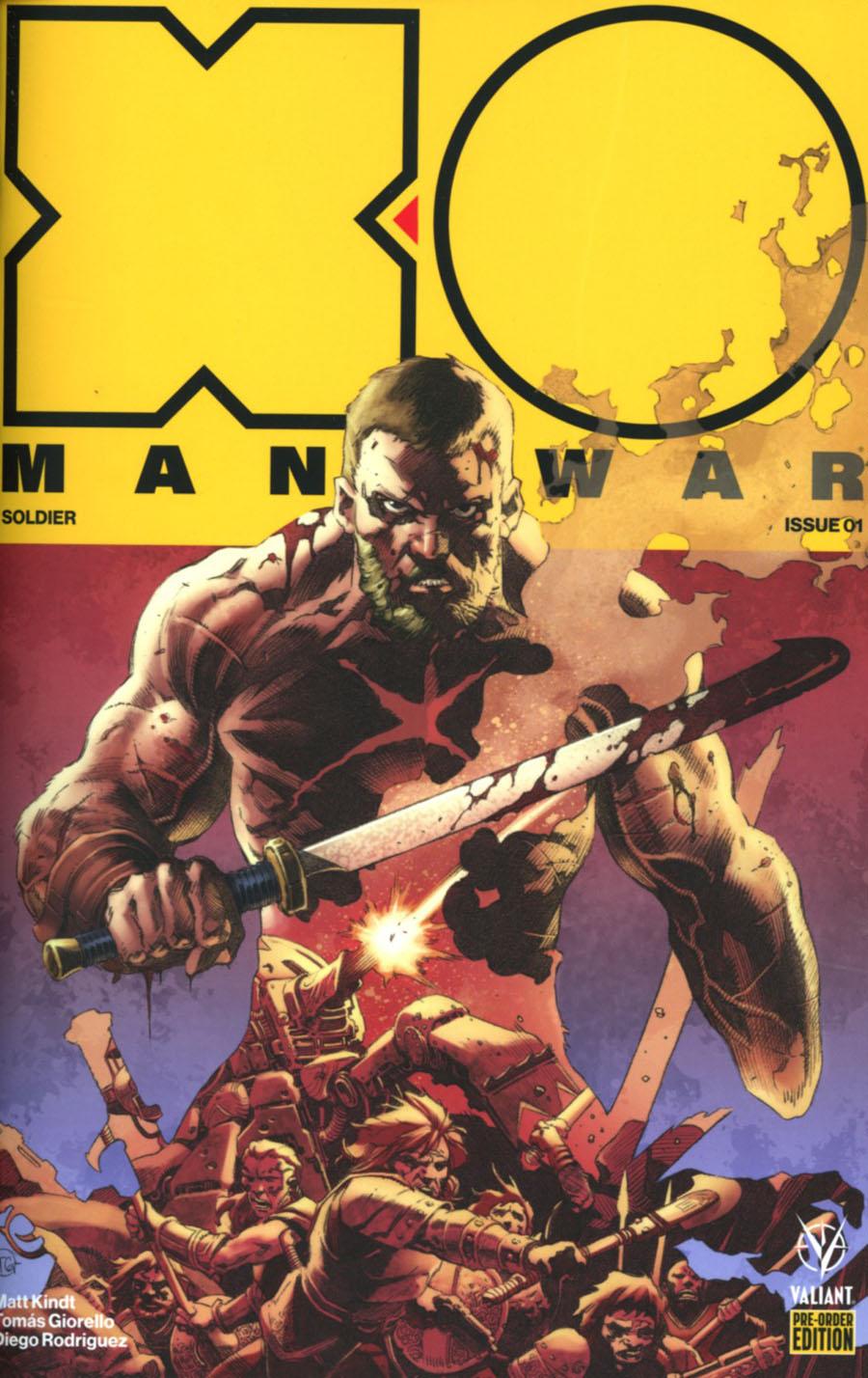 X-O Manowar Vol 4 #1 Cover C Variant Tomas Giorello Cover