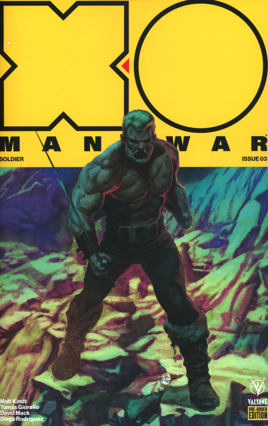 X-O Manowar Vol 4 #3 Cover C Variant Tomas Giorello Cover