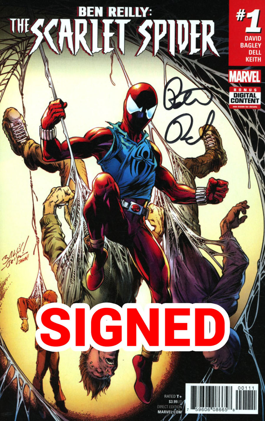 Ben Reilly The Scarlet Spider #1 Cover G Regular Mark Bagley Cover Signed By Peter David