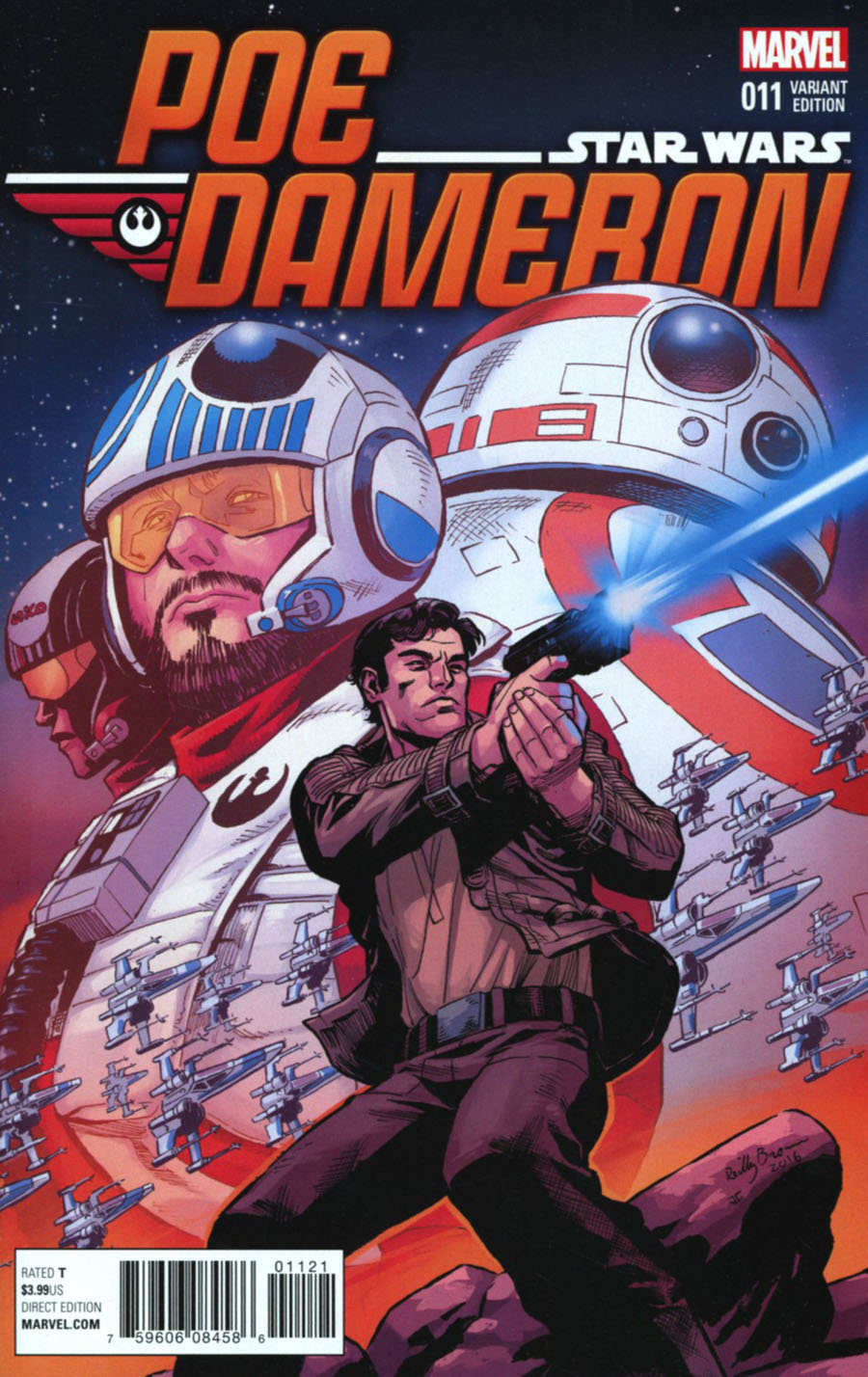 Star Wars Poe Dameron #11 Cover C Incentive Reilly Brown Variant Cover