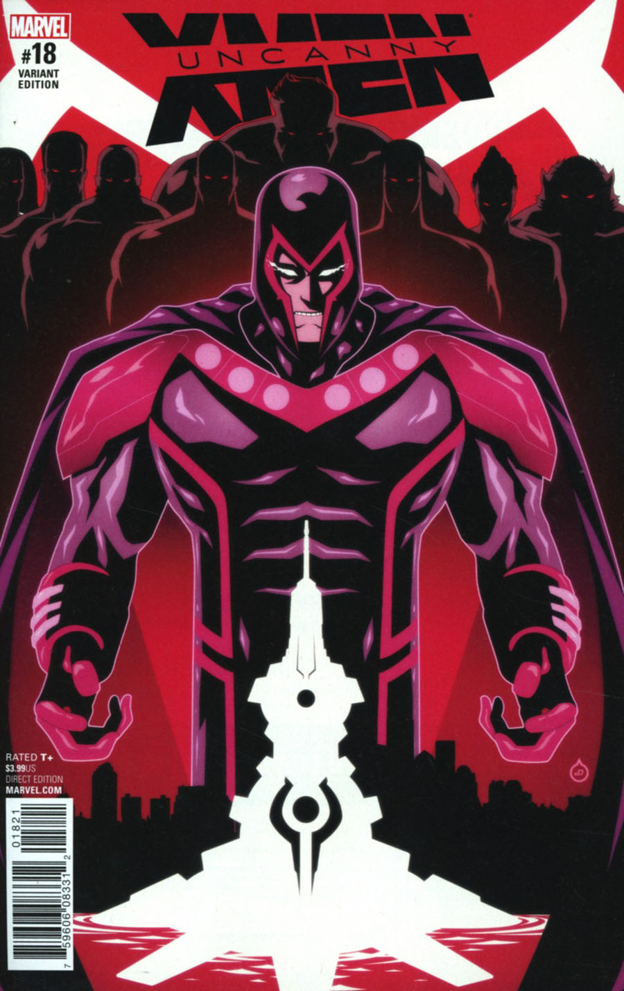 Uncanny X-Men Vol 4 #18 Cover B Incentive Juan Doe IvX Variant Cover (Inhumans vs X-Men Tie-In)