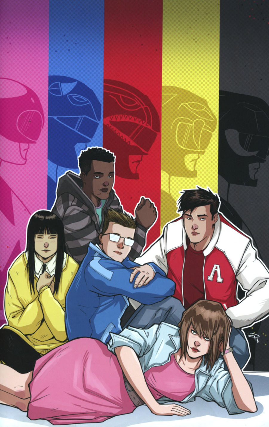 Mighty Morphin Power Rangers (BOOM Studios) #12 Cover E Incentive Denis Medri Virgin Variant Cover