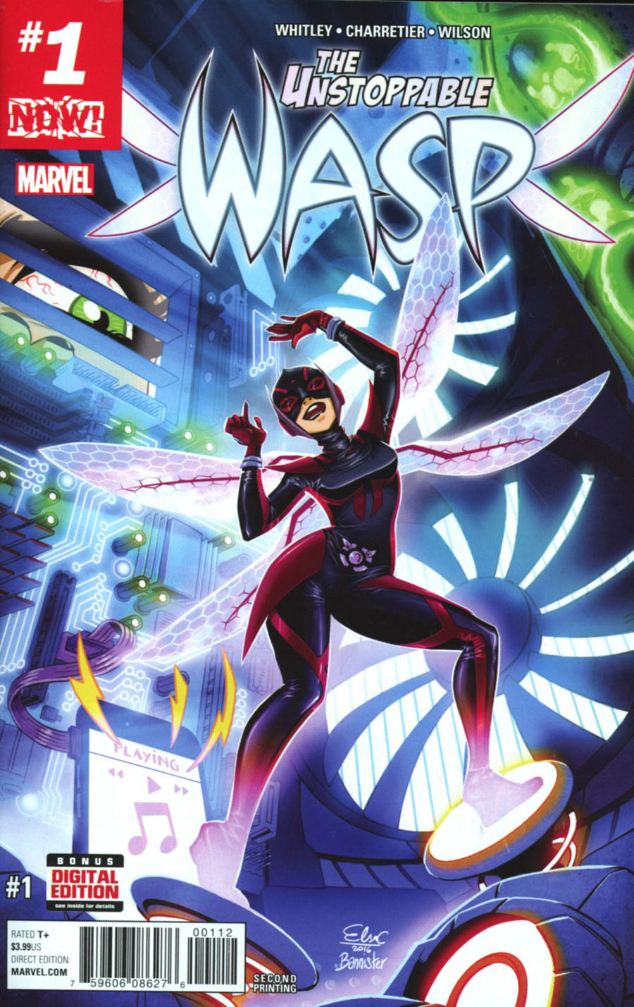 Unstoppable Wasp #1 Cover H 2nd Ptg Elsa Charretier Variant Cover (Marvel Now Tie-In)