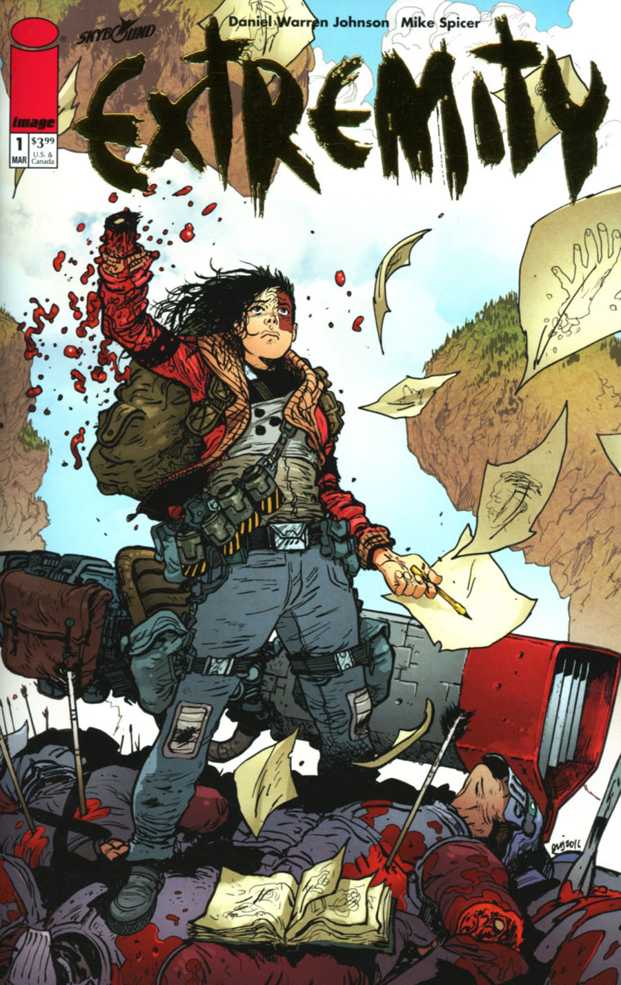 Extremity #1 Cover B Incentive Retailer Appreciation Gold Foil Variant Cover