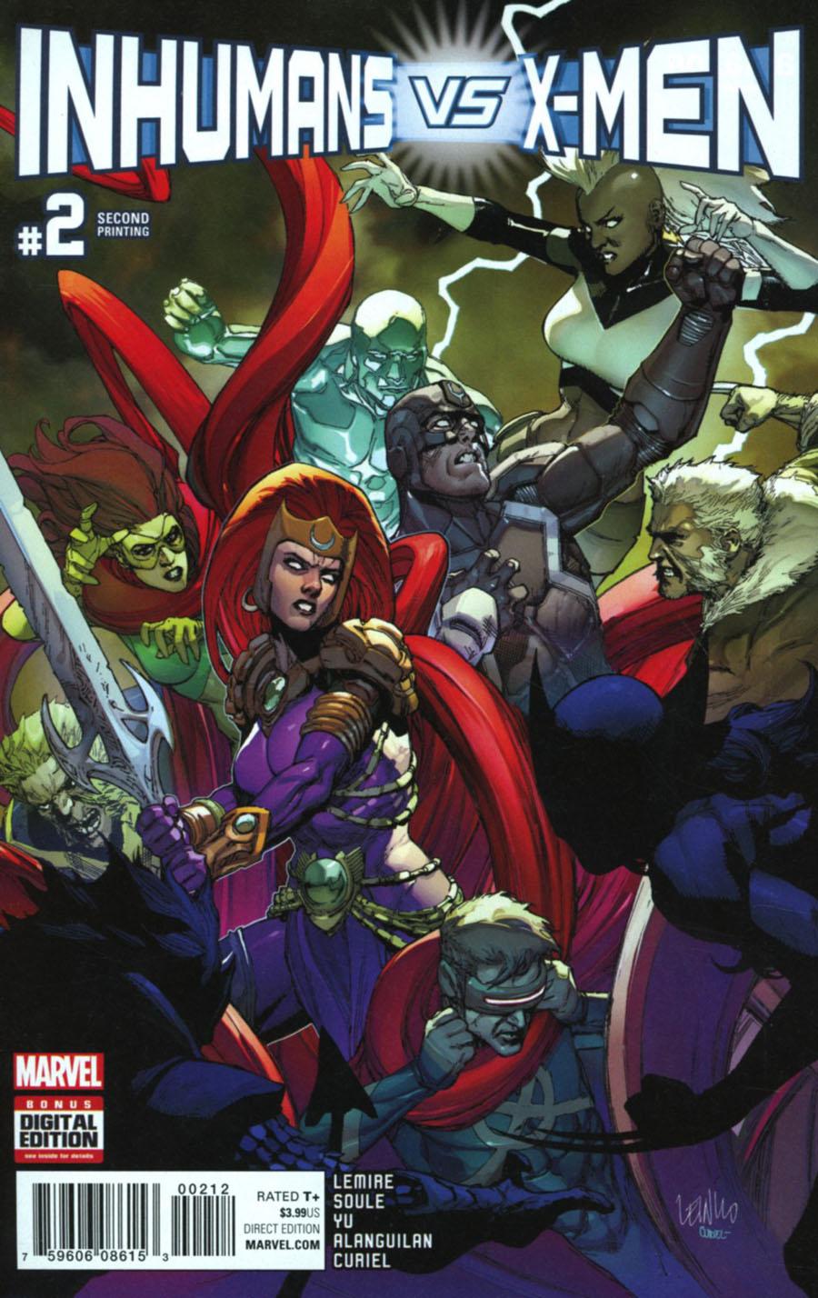 Inhumans vs X-Men #2 Cover F 2nd Ptg Leinil Francis Yu Variant Cover