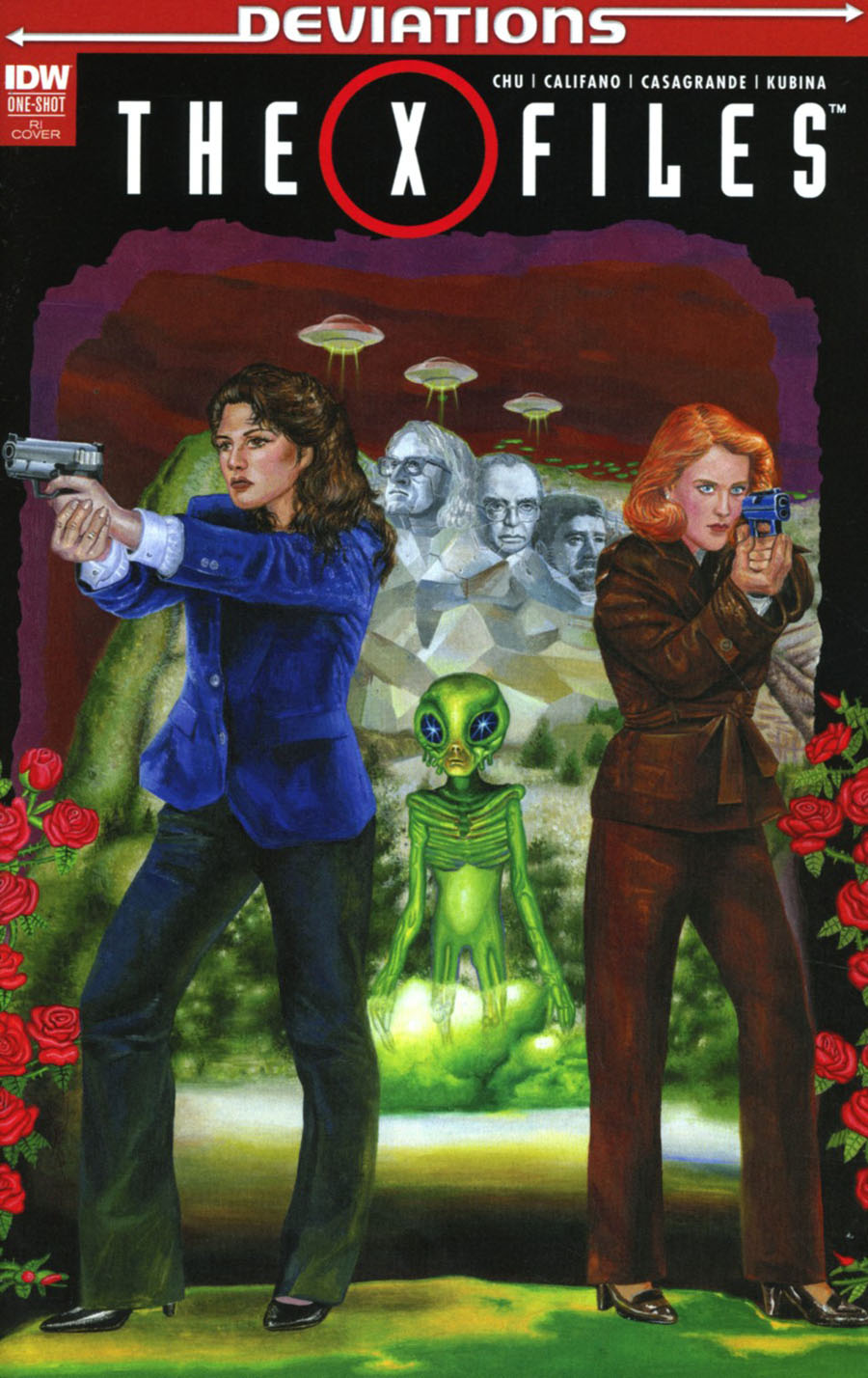 X-Files Deviations 2017 One Shot Cover C Incentive Miran Kim Variant Cover