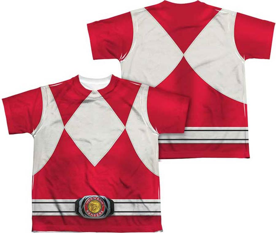 New RED Mighty Morphin Power Rangers YOUTH Size XL XLarge Shirt