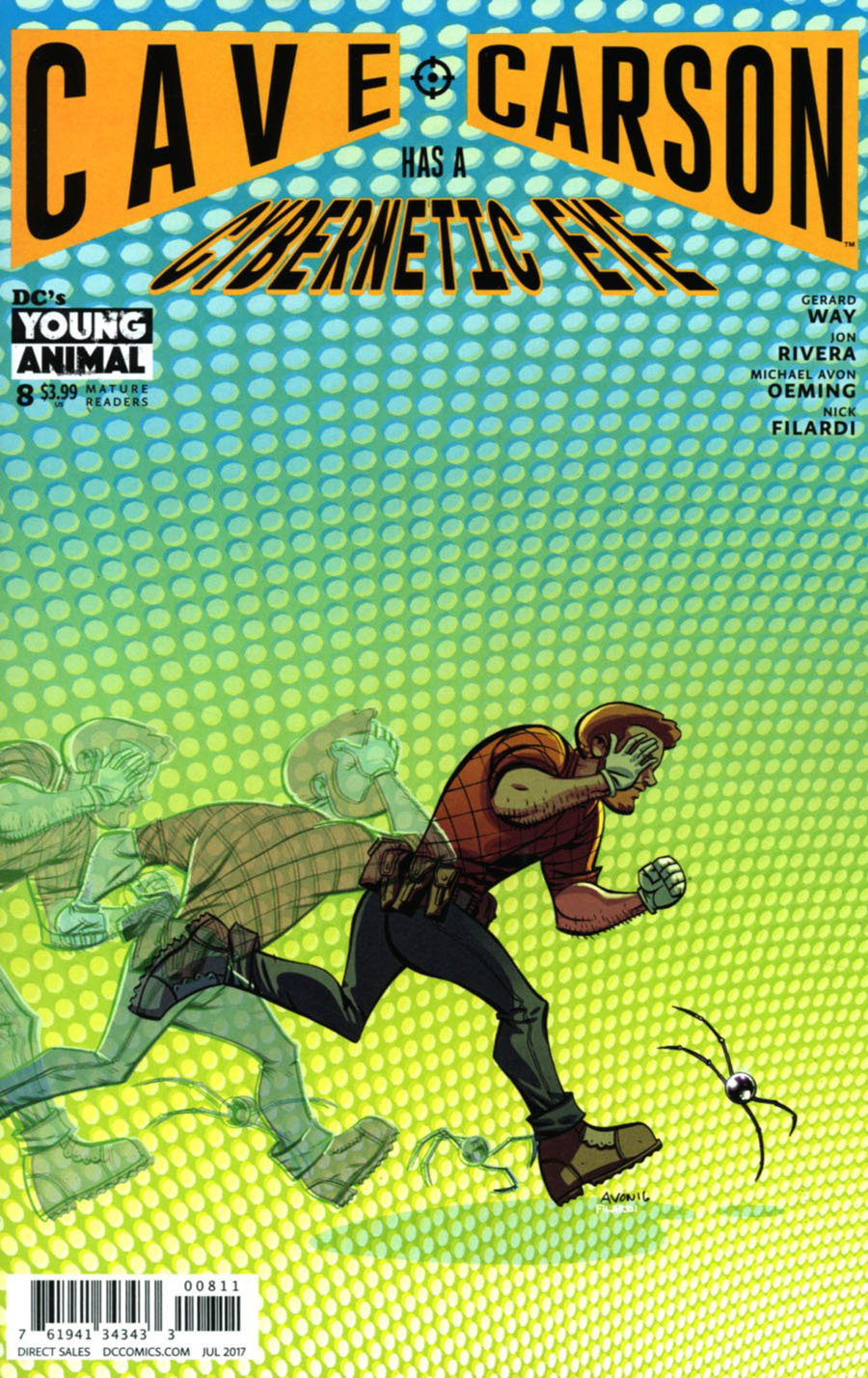 Cave Carson Has A Cybernetic Eye #8 Cover A Regular Michael Avon Oeming Cover