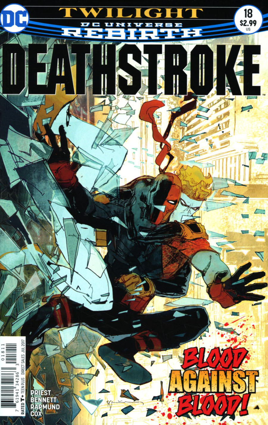 Deathstroke Vol 4 #18 Cover A Regular Bill Sienkiewicz Cover
