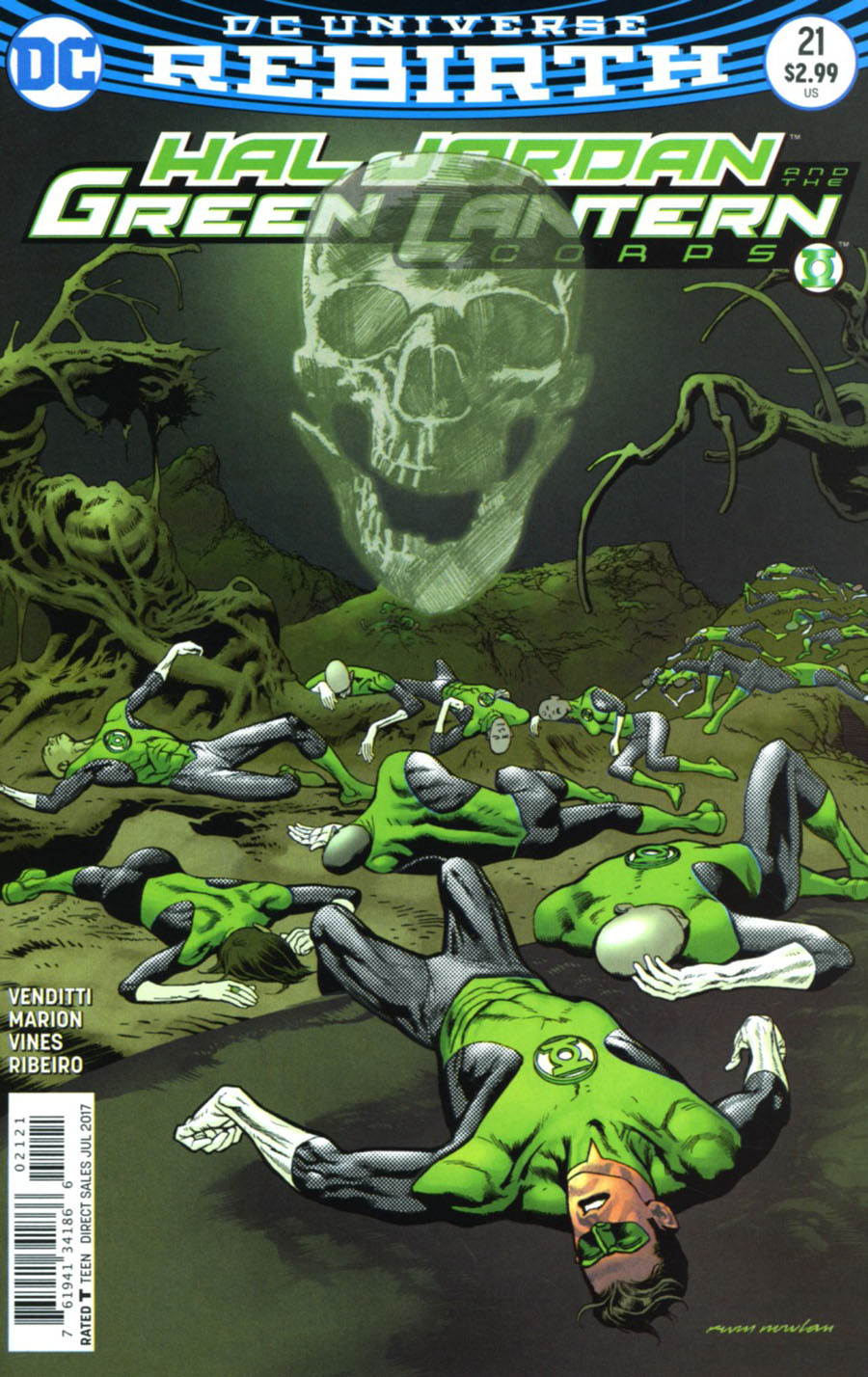 Hal Jordan And The Green Lantern Corps #21 Cover B Variant Kevin Nowlan Cover