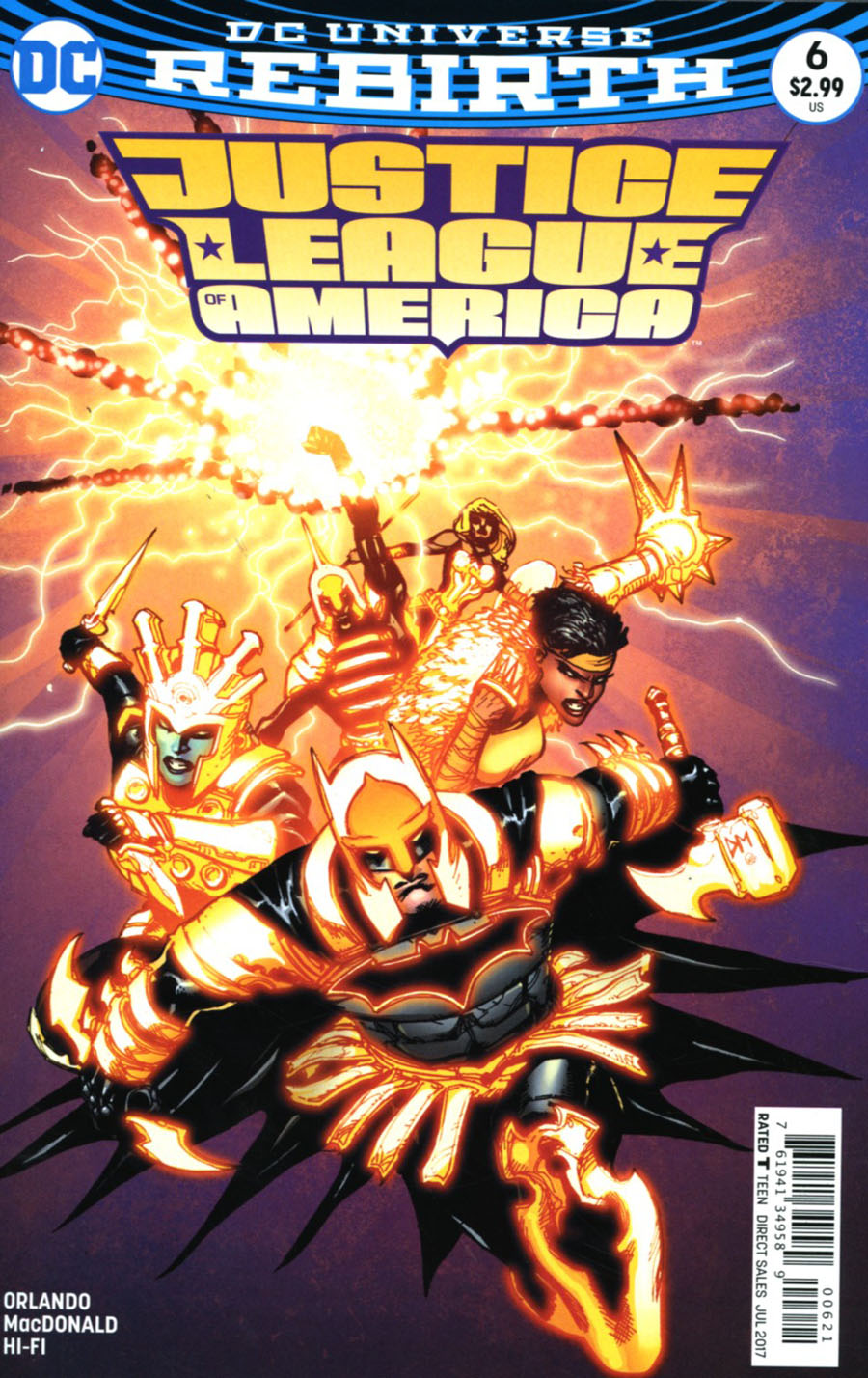Justice League Of America Vol 5 #6 Cover B Variant Doug Mahnke Cover