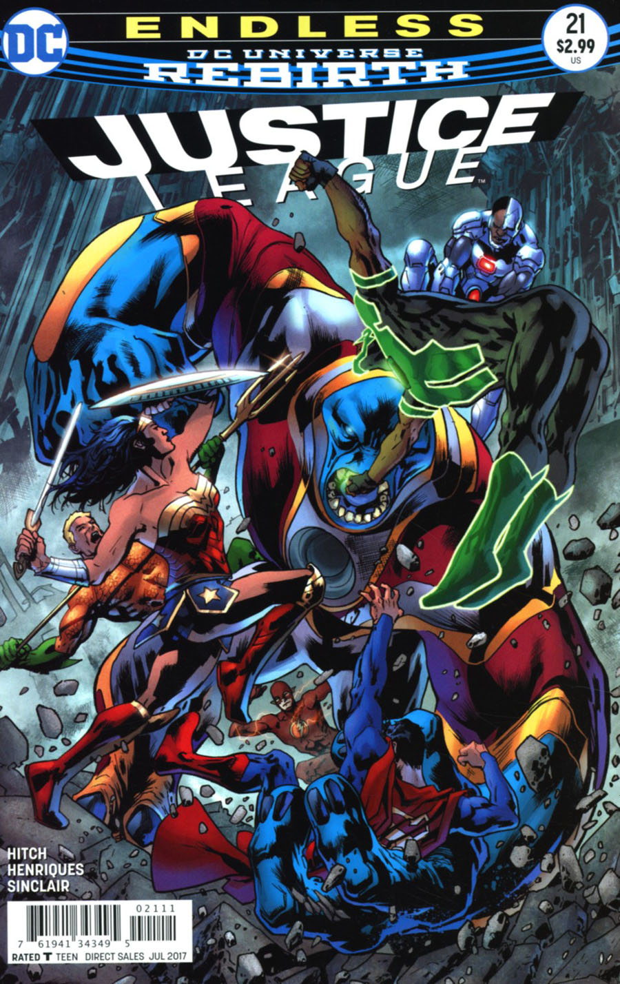 Justice League Vol 3 #21 Cover A Regular Bryan Hitch Cover