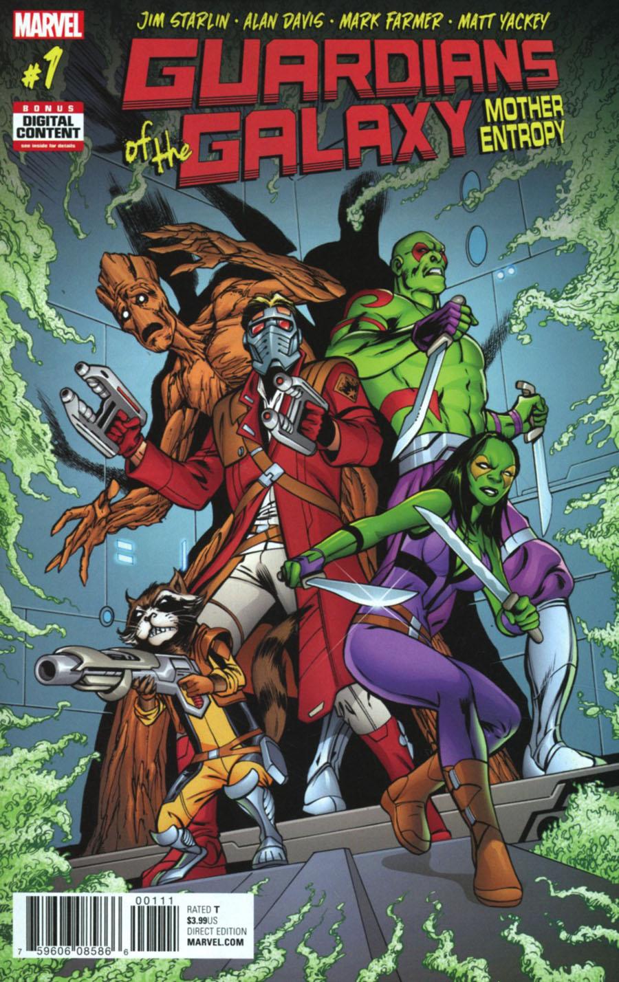 Guardians Of The Galaxy Mother Entropy #1 Cover A Regular Alan Davis Cover