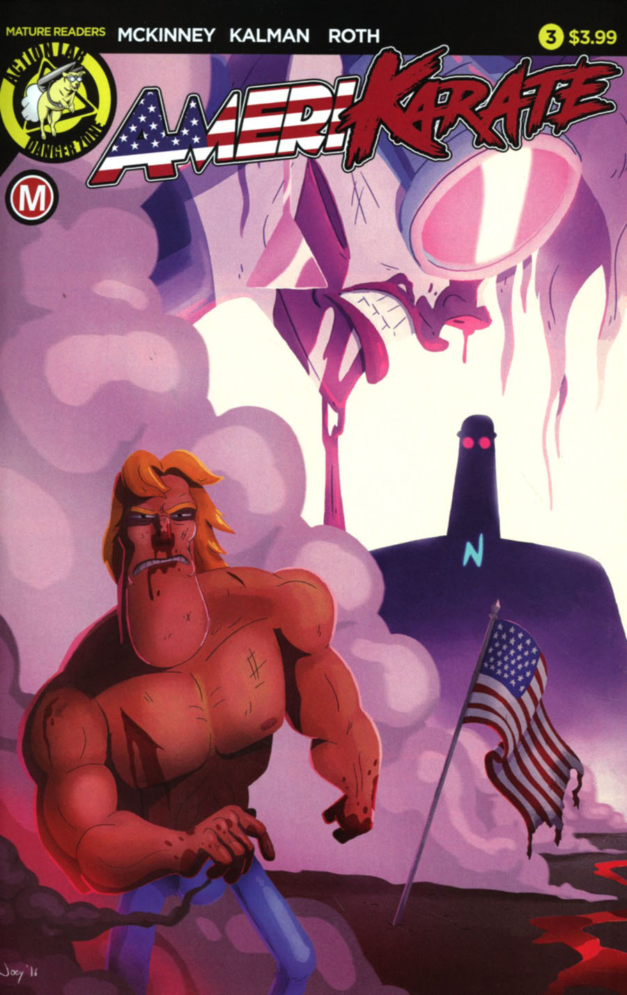 Amerikarate #3 Cover A Regular Devin Roth Cover