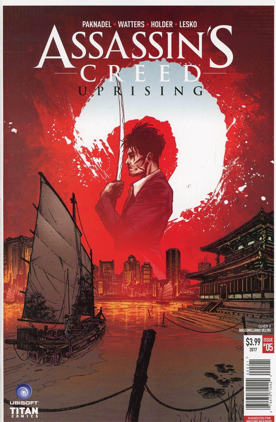 Assassins Creed Uprising #5 Cover B Variant Massimiliano Veltri Cover