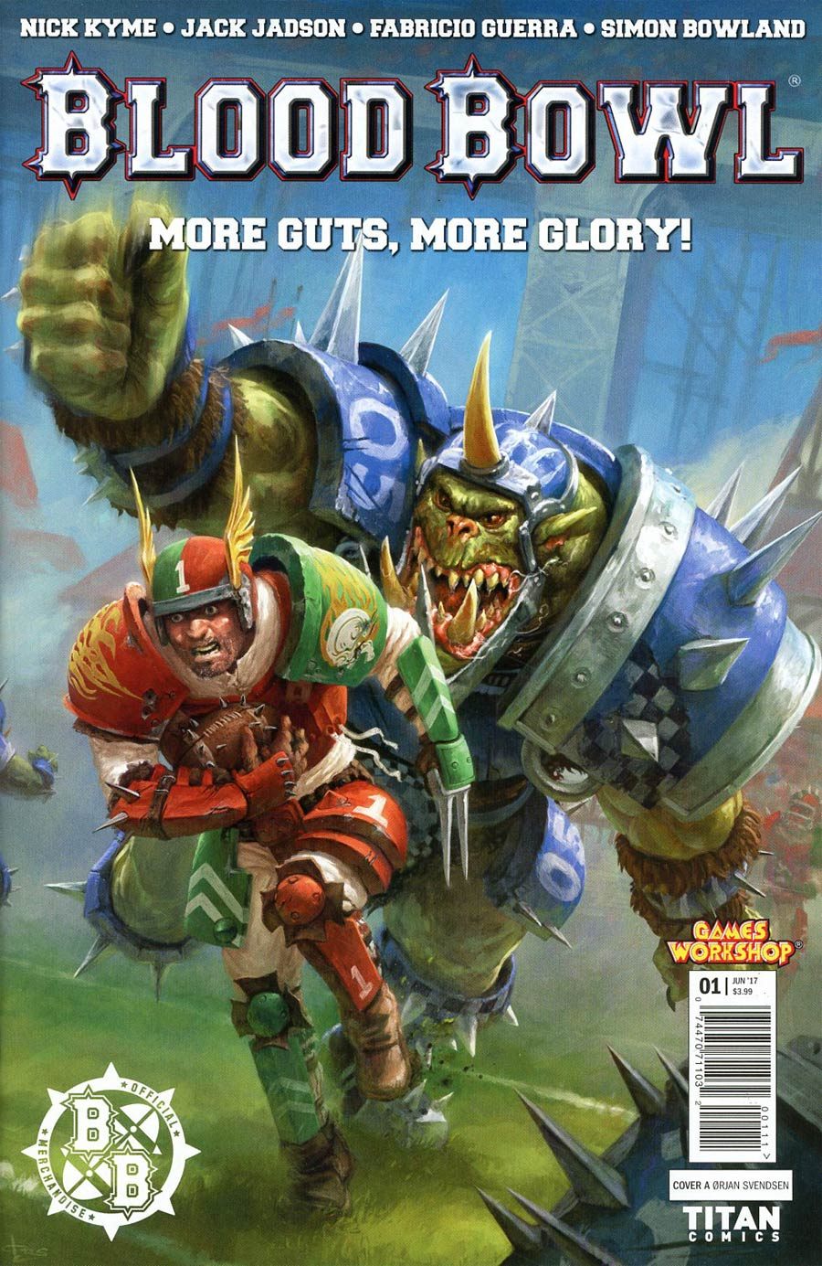 Blood Bowl More Guts More Glory #1 Cover A Regular Orjan Svendsen Cover