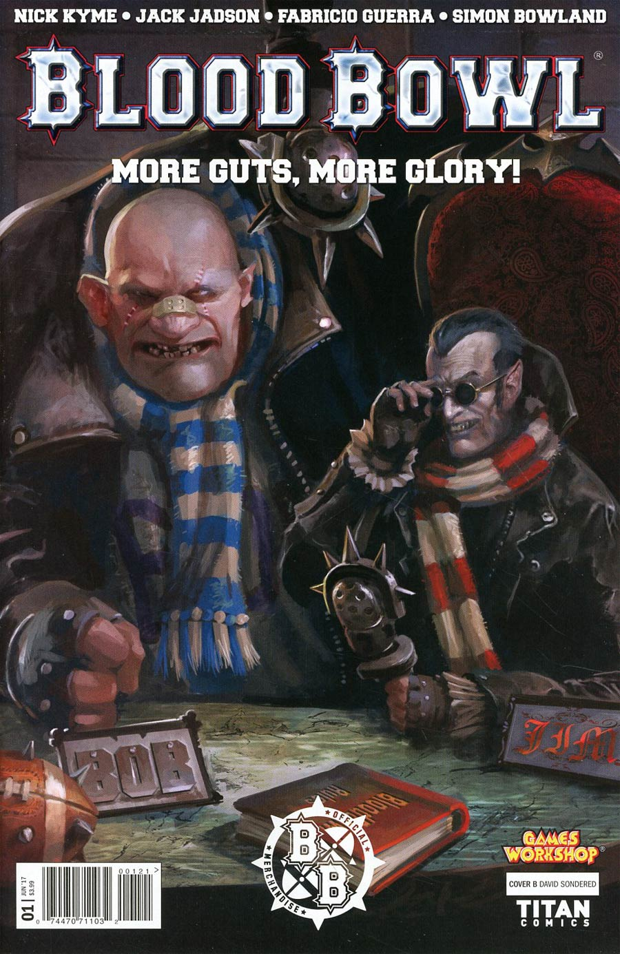 Blood Bowl More Guts More Glory #1 Cover B Variant David Sondered Cover
