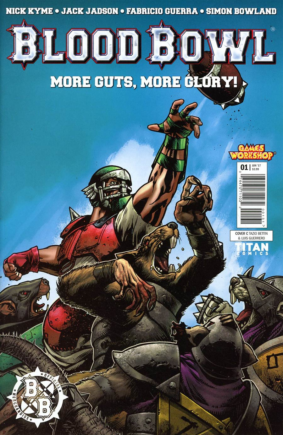 Blood Bowl More Guts More Glory #1 Cover C Variant Tazio Bettin & Luis Guerrero Cover