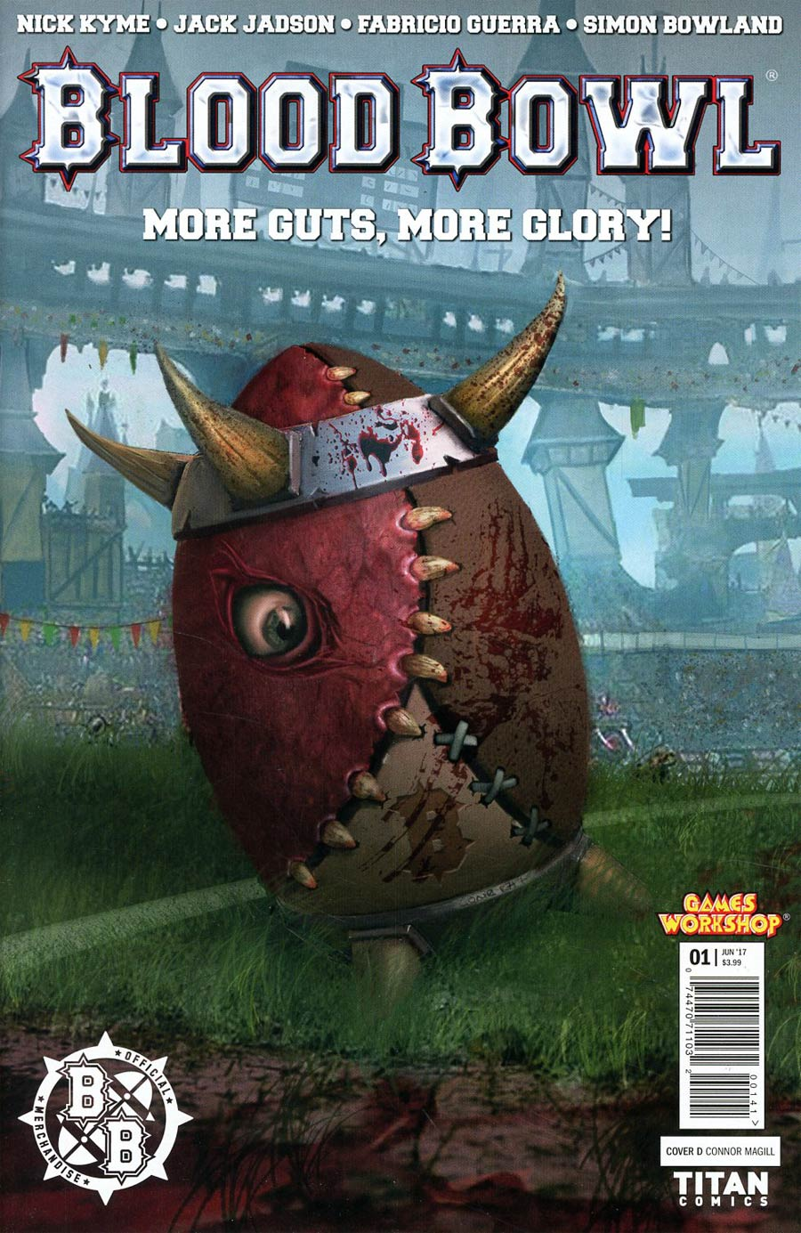 Blood Bowl More Guts More Glory #1 Cover D Variant Connor Magill Cover