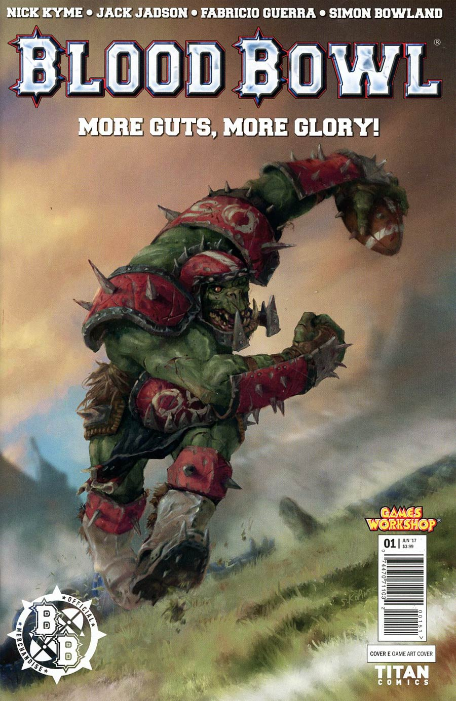 Blood Bowl More Guts More Glory #1 Cover E Variant Video Game Cover