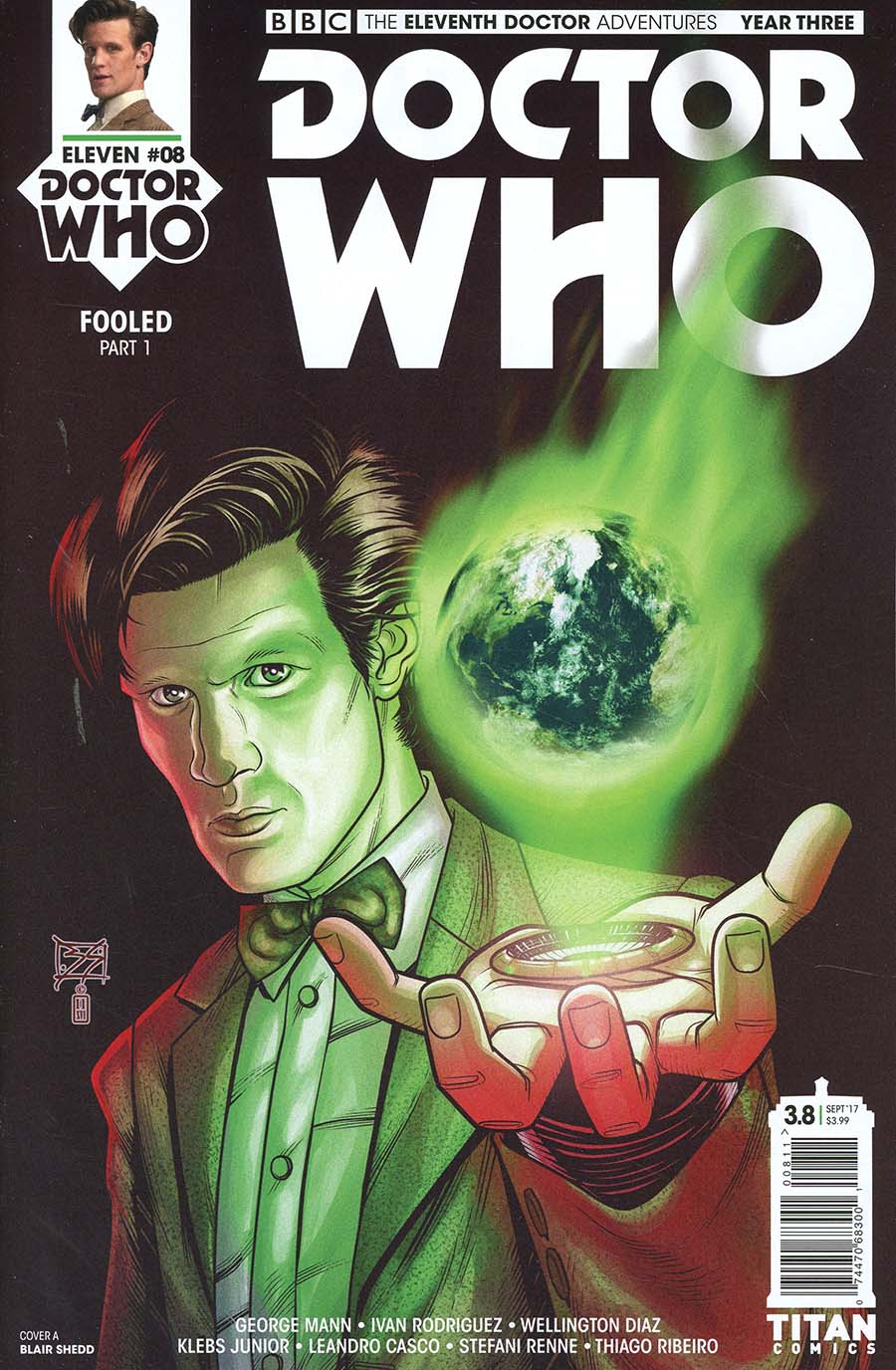 Doctor Who 11th Doctor Year Three #8 Cover A Regular Blair Shedd Cover