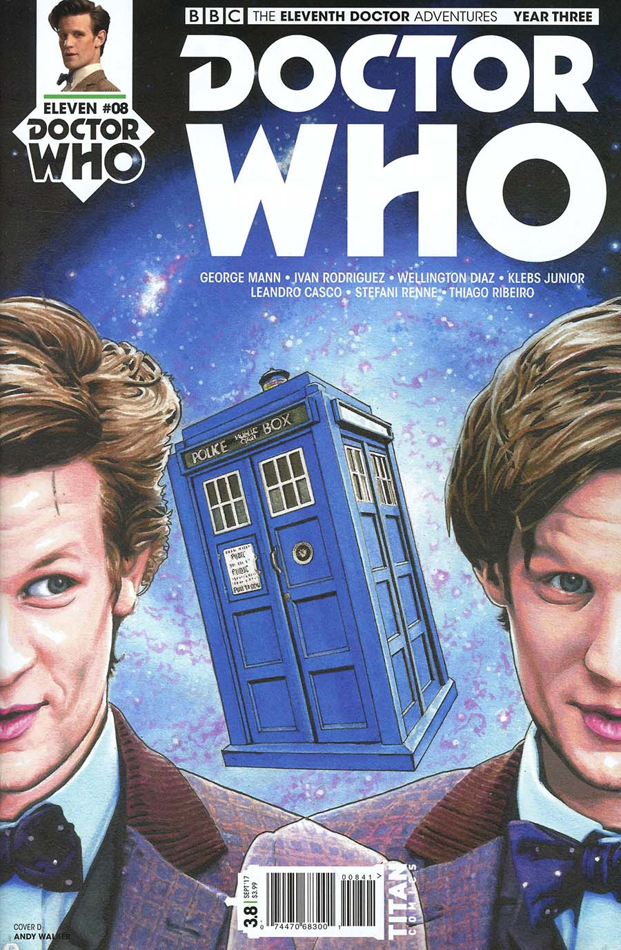 Doctor Who 11th Doctor Year Three #8 Cover D Variant Andy Walker Cover