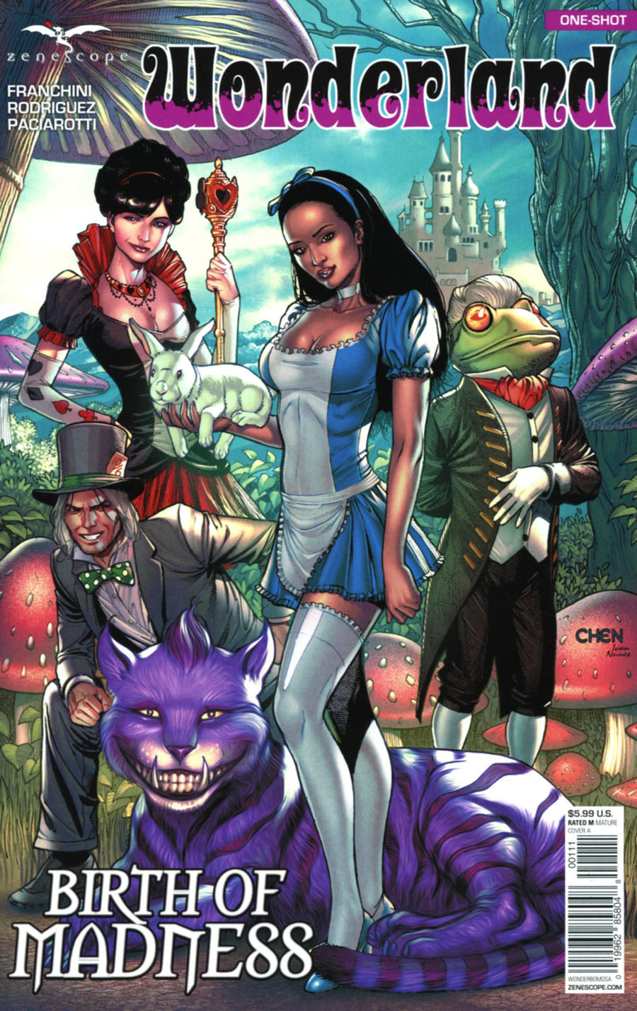 Grimm Fairy Tales Presents Wonderland Birth Of Madness One Shot Cover A Sean Chen