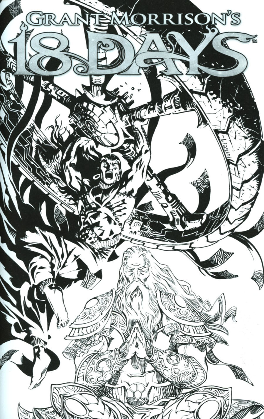 Grant Morrisons 18 Days #23 Cover C Variant Francesco Biagini Limited Black & White Cover