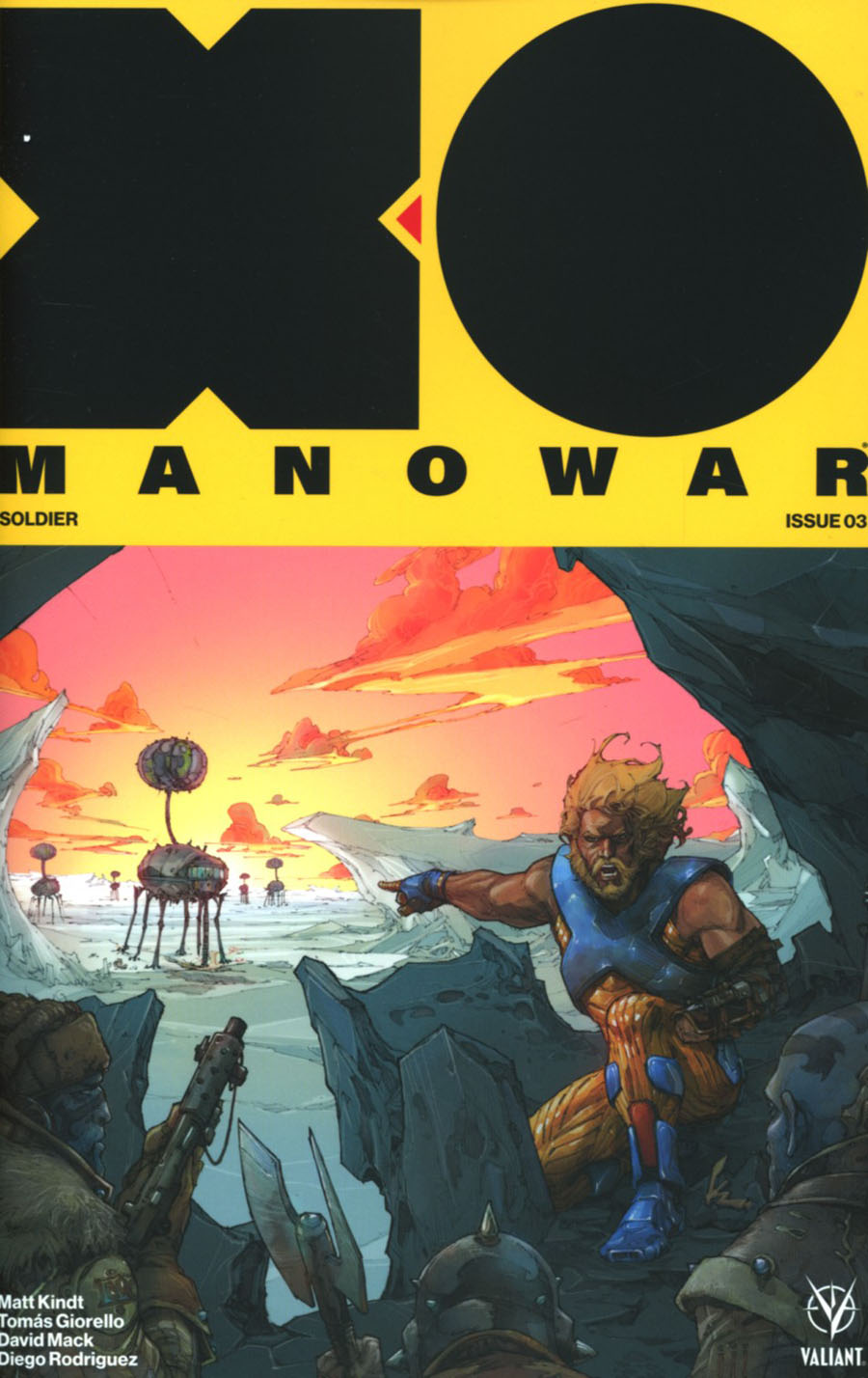 X-O Manowar Vol 4 #3 Cover B Variant Kenneth Rocafort Cover