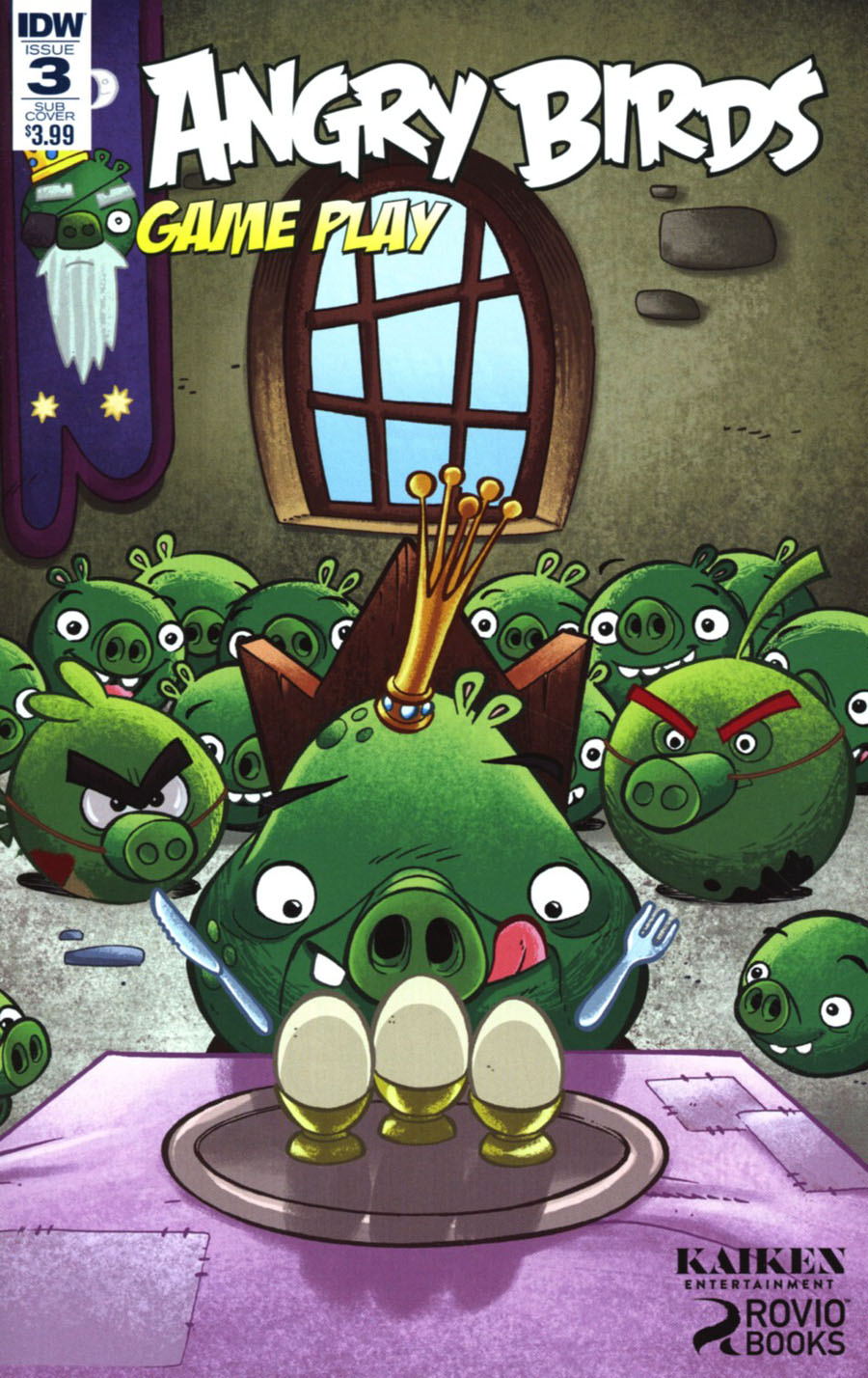 Angry Birds Comics Game Play #3 Cover B Variant Paco Rodriquez Subscription Cover