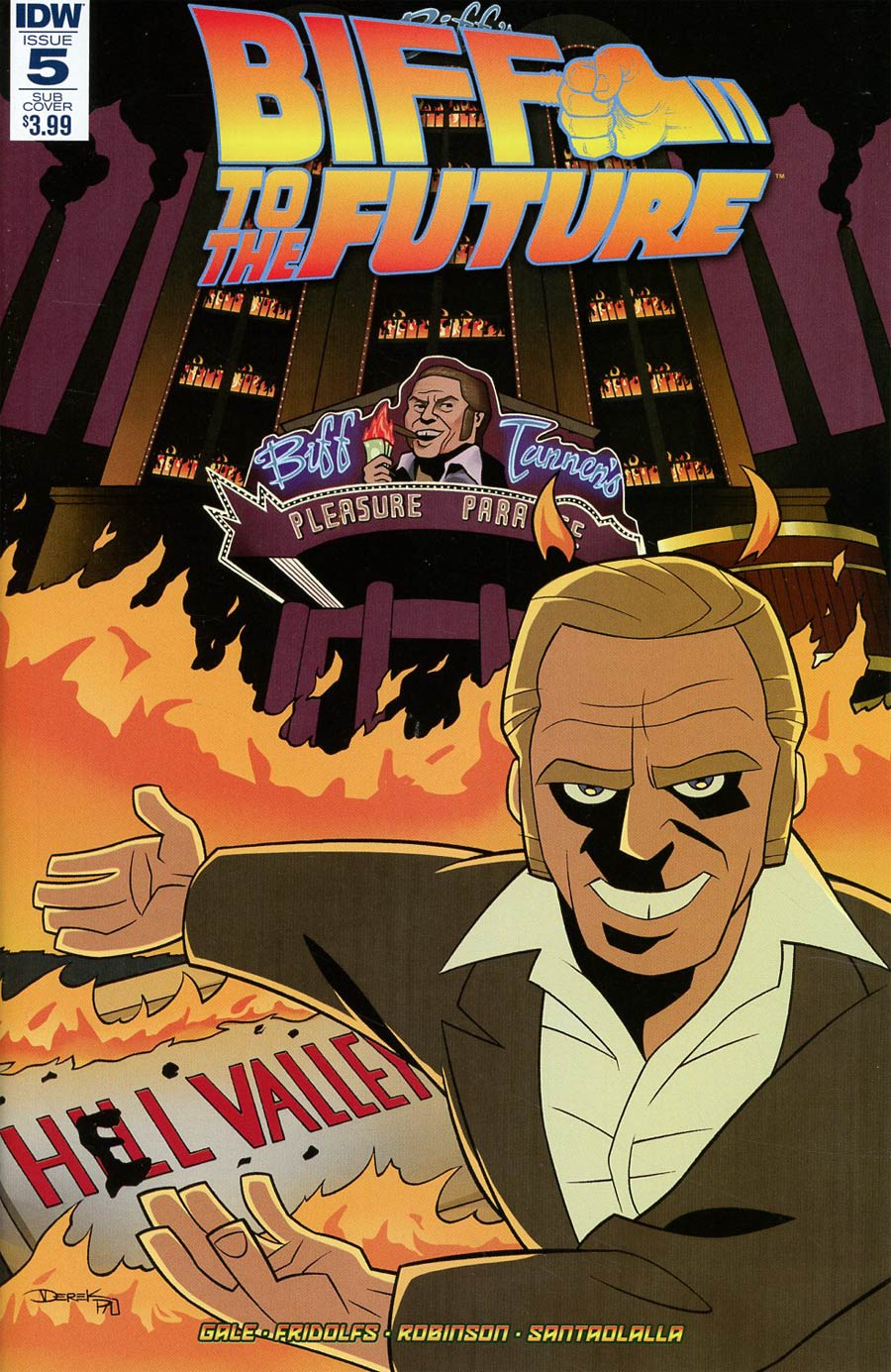 Back To The Future Biff To The Future #5 Cover B Variant Derek Fridolfs Subscription Cover