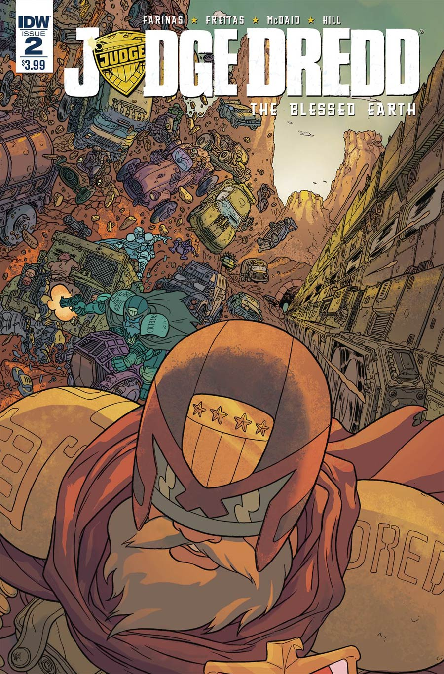 Judge Dredd Blessed Earth #2 Cover A Regular Ulises Farinas Cover