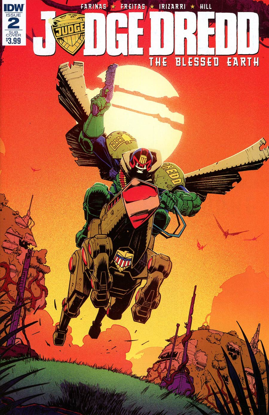 Judge Dredd Blessed Earth #2 Cover B Variant Nick Roche Subscription Cover