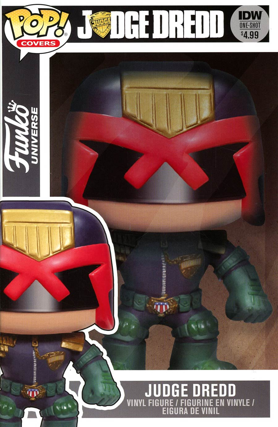 Judge Dredd Funko Universe Cover B Variant Funko Toy Subscription Cover