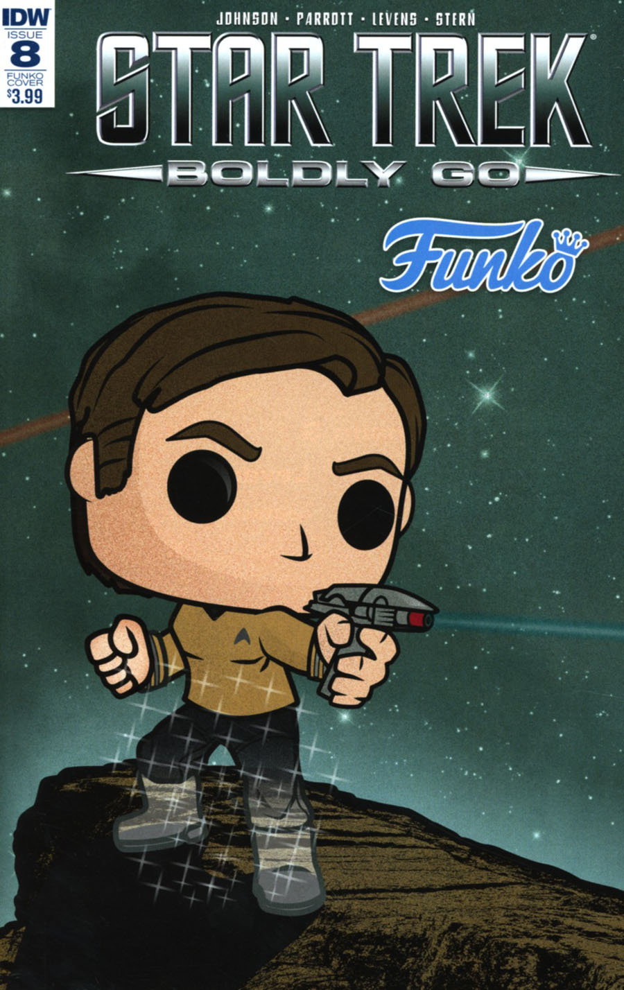 Star Trek Boldly Go #8 Cover C Variant Tim Gilardi Funko Art Cover