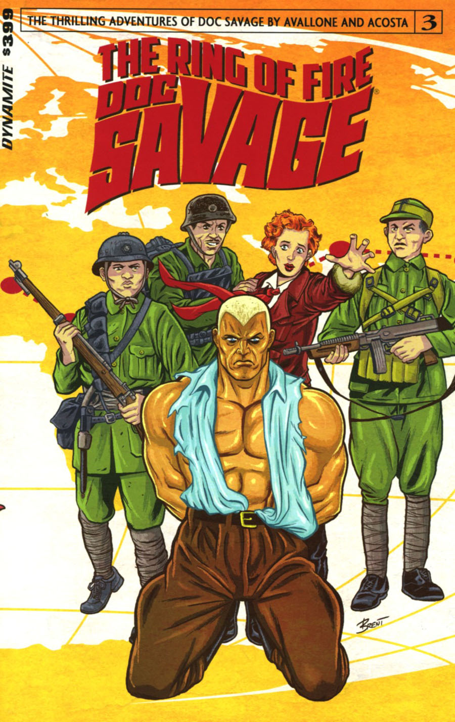 Doc Savage Ring Of Fire #3 Cover A Regular Brent Schoonover Cover