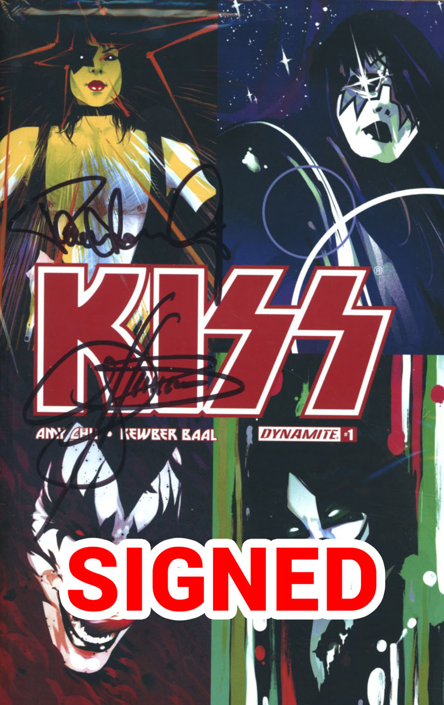 KISS Vol 3 #1 Cover T Variant Goni Montes Cover Signed By Gene Simmons & Paul Stanley