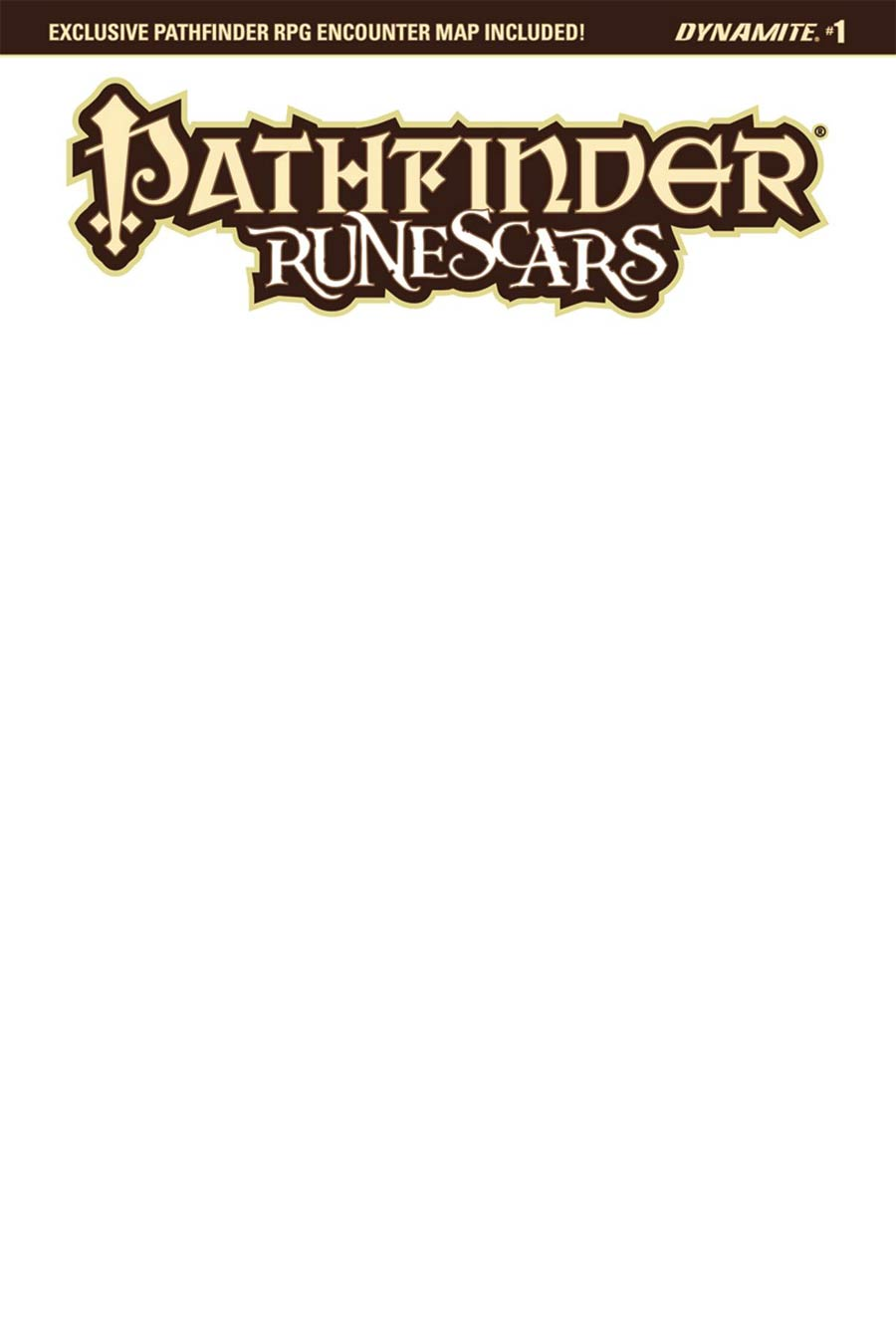 Pathfinder Runescars #1 Cover G Variant Blank Authentix Cover