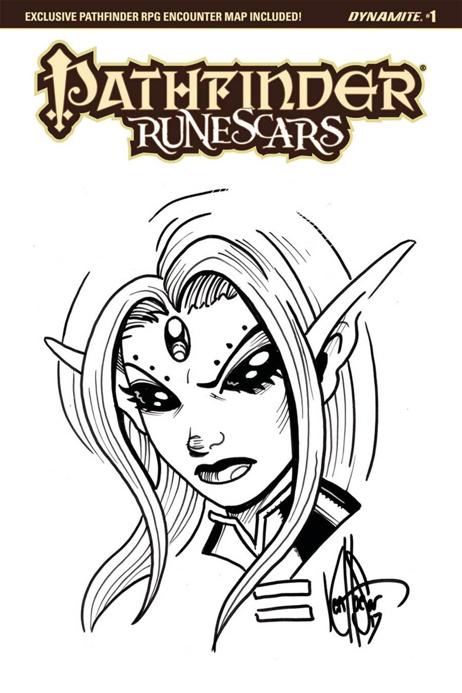 Pathfinder Runescars #1 Cover I Variant Ken Haeser Hand-Drawn Sketch Cover (Filled Randomly)