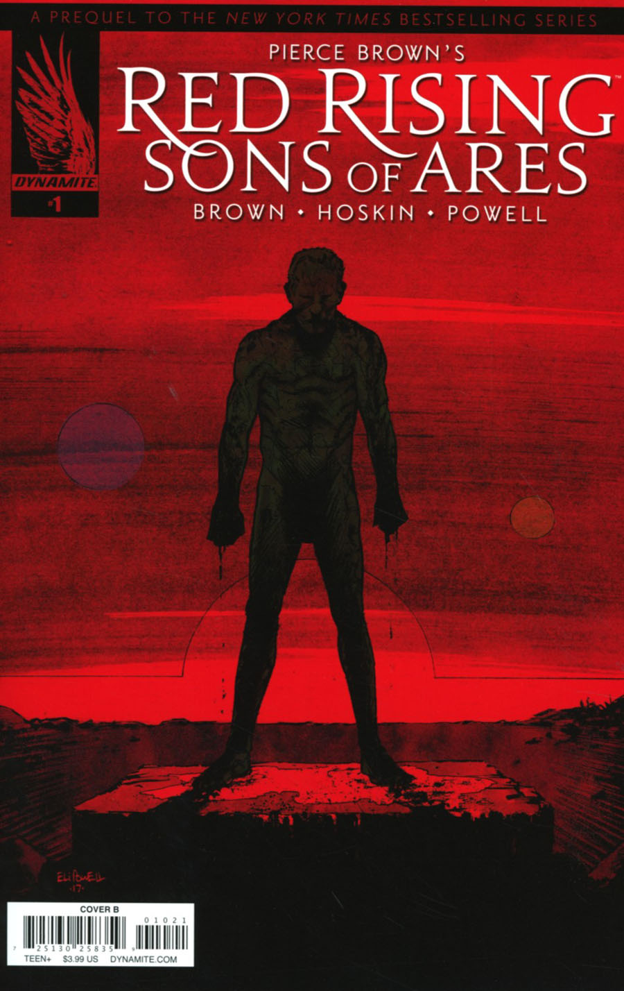 Pierce Browns Red Rising Sons Of Ares #1 Cover B Variant Eli Powell Cover