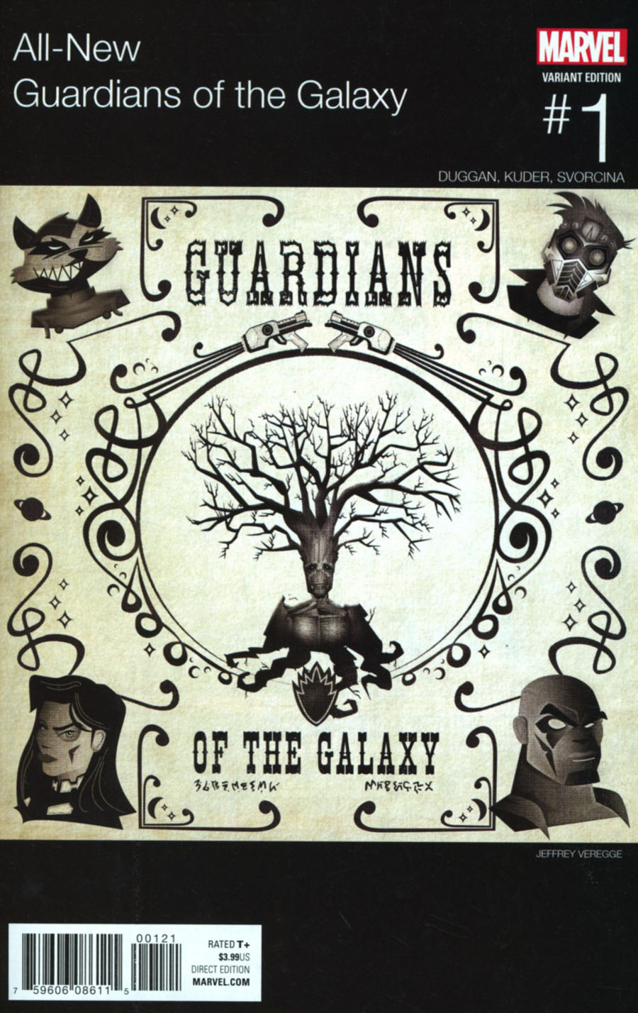 All-New Guardians Of The Galaxy #1 Cover C Variant Jeffrey Veregge Marvel Hip-Hop Cover