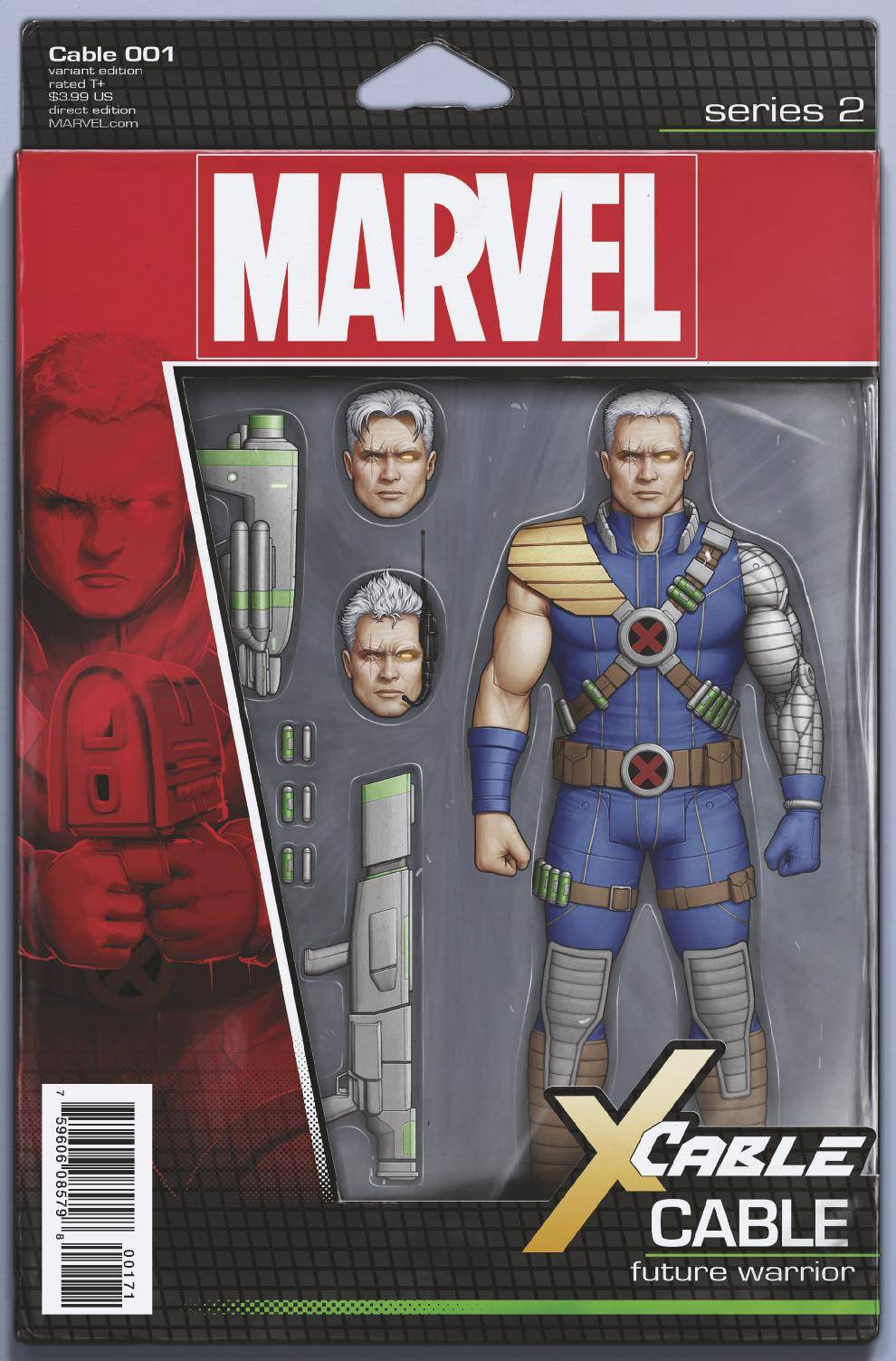Cable Vol 3 #1 Cover C Variant John Tyler Christopher Action Figure Cover (Resurrxion Tie-In)