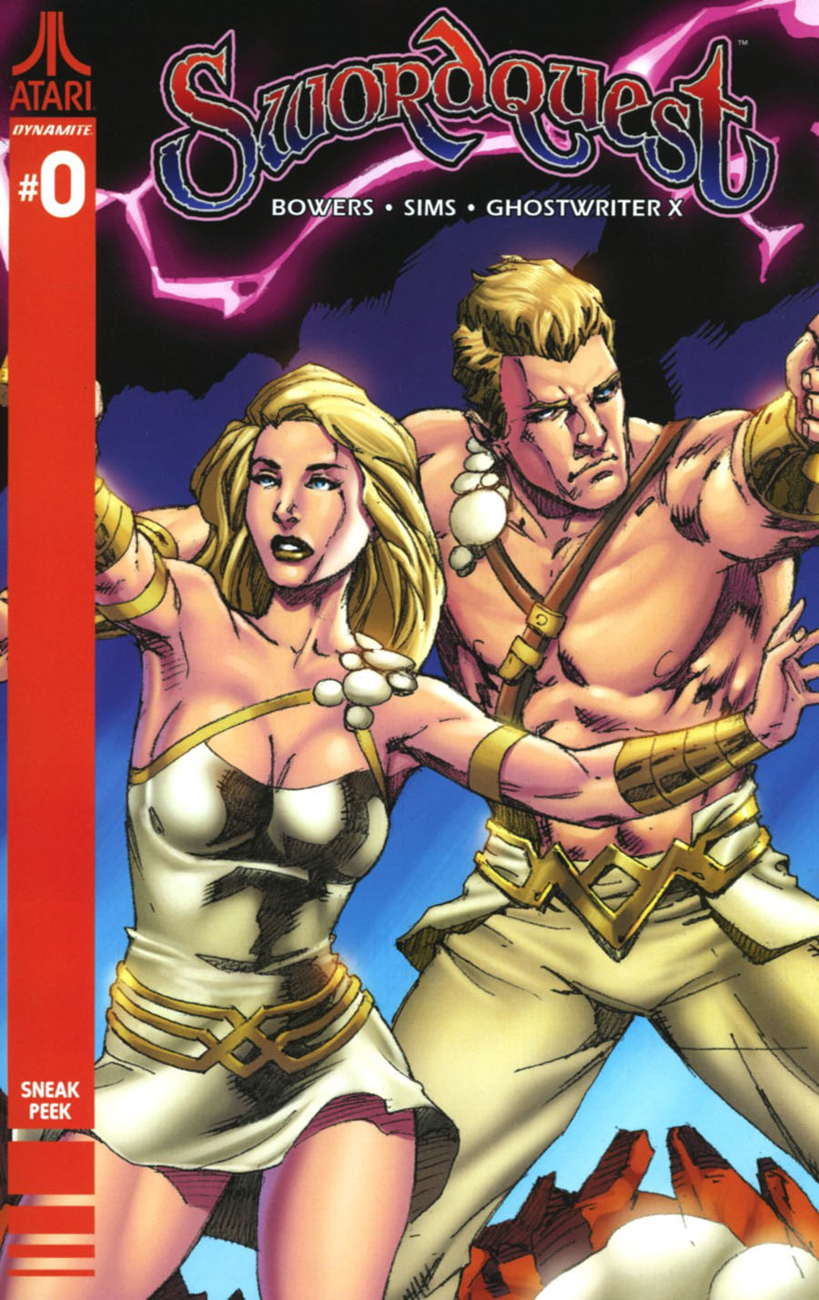 Swordquest #0 Cover B Incentive Mel Rubi Sneak Peek Variant Cover
