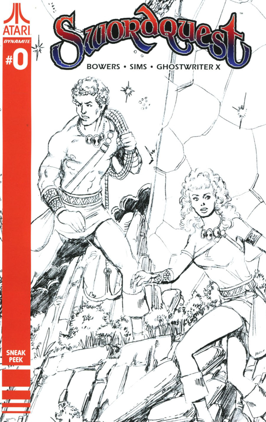 Swordquest #0 Cover D Incentive George Perez Sneak Peek Variant Cover